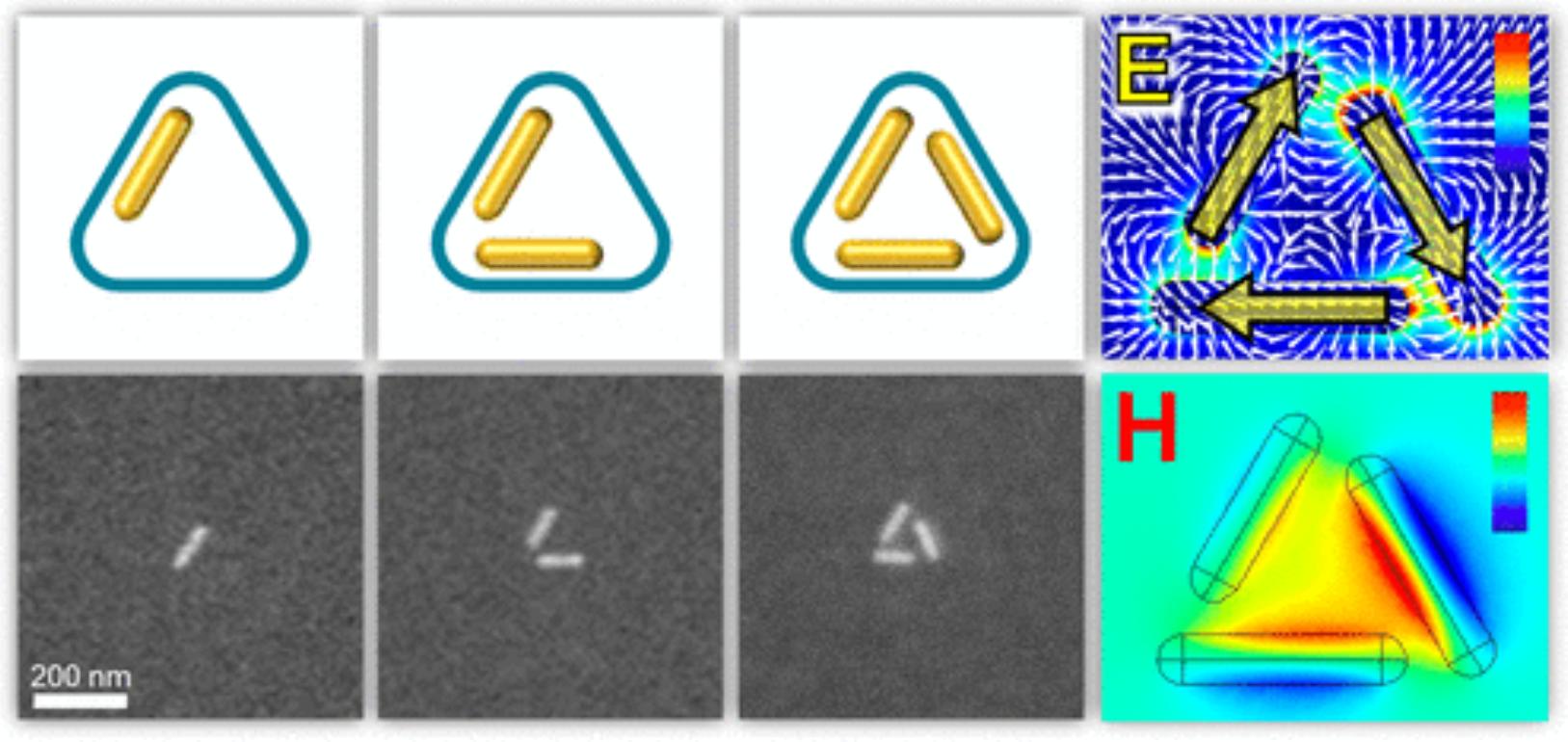 Plasmonic Optical and Chiroptical Response of Self-Assembled Au Nanorod Equilateral Trimers
